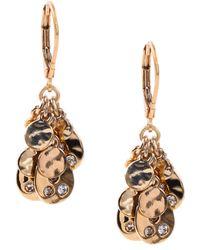 Anne Klein - Goldtone Cluster Drop Earrings - Lyst