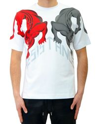 Diesel Black Gold Teoria-Panther-T-Shirt red - Lyst