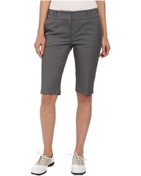 Lija Shotgun Knee Shorts - Gray