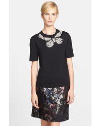 Marc Jacobs Women'S Back Tie Embellished Wool Sweater - Lyst