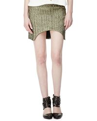 Sass & Bide - March To Victory Metallic Skirt - Lyst