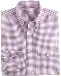 J.Crew Slim Lightweight Vintage Oxford Cloth Shirt In Summertime Gingham - Lyst