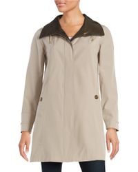 Gallery - Trench Coat With Removable Hood - Lyst