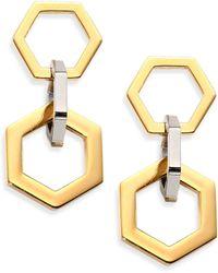 Tory Burch Hexagon Link Drop Earrings - Lyst