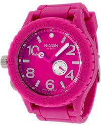 Nixon Womens 51-30 Series Pink Dial Pink Polyurethane - Lyst