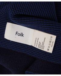 Folk - Striped Fleck Knit Cotton Blend Scarf - Lyst