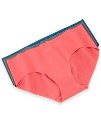 Commando Seamless Cotton Bikini Briefs Hot Coral Smallmedium - Lyst