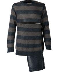 Yohji Yamamoto Zip Sweater - Lyst