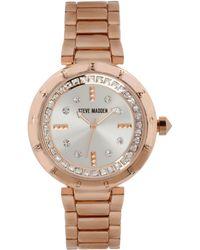 Steve Madden | Womens Rose Goldtone Bracelet Watch 40mm 03 | Lyst