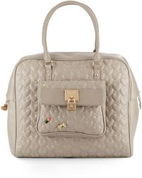 Betsey Johnson | Be My Baby Quilted Faux Leather Satchel | Lyst