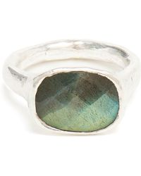 Ram | Silver And Labradorite Ring | Lyst