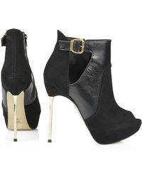 Topshop Agent Buckle Ankle Boots - Lyst