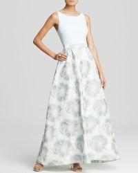 Aidan Mattox - Gown - Sleeveless Printed Taffeta Skirt - Lyst