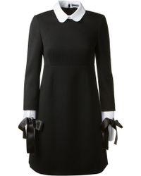 Alexander McQueen Black Virgin Wool Dress - Lyst