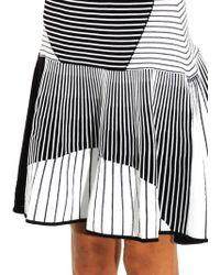Prabal Gurung - Striped Knitted Skater Skirt - Lyst