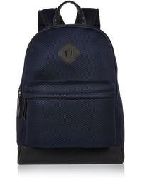 River Island Navy Mesh Backpack - Lyst