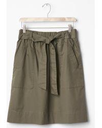 Gap Tie-Waist Skirt green - Lyst