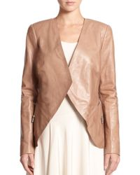Lafayette 148 New York Leather Becca Cascade Jacket - Lyst