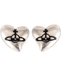 Vivienne Westwood Anglomania - Heart Stud Earrings - Lyst