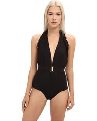 Chloé Brown Swimsuit  - Lyst