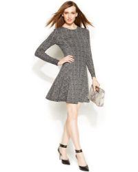 Michael Kors Michael Petite Herringboneprint Sweater Dress - Lyst