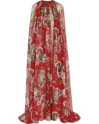 Dolce & Gabbana Printed Silkchiffon Cape - Lyst