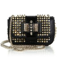Christian Louboutin Sweety Charity Embellished Crossbody Bag black - Lyst