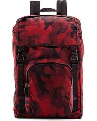 Prada Nylon Double-Buckle Backpack - Lyst