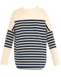 Adam Lippes Striped Cotton-Jersey Top - Lyst