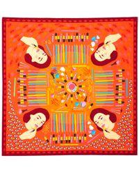 Karen Mabon Lipstick Square Scarf - Multicolour