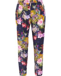 Matthew Williamson - Floral Print Silk Pants - Lyst
