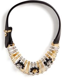 Fendi - Leather Detailed Necklace - Lyst