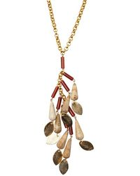 Wendy Mink - Carnelian And Brown Agate Cluster Necklace - Lyst