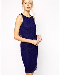 Oasis Corded Lace Tier Dress - Lyst
