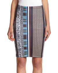 Clover Canyon Library Stripe Pencil Skirt - Lyst