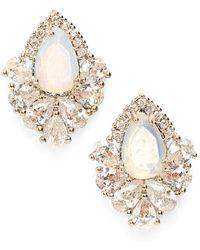 Samantha Wills 'fields Of Gold' Stud Earrings - Moonstone/ Silver - White