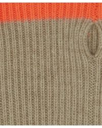 CASH CA - Taupe Cashmere Wrist Warmers - Lyst