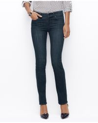 Ann Taylor Oe Low Rise Denim Slim - Lyst