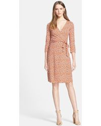 Diane von Furstenberg 'New Julian 2' Silk Jersey Wrap Dress - Lyst