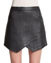 BCBGMAXAZRIA Owen Faux Leather Mini Skirt - Lyst