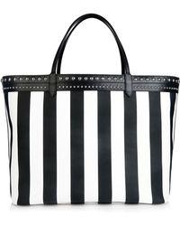 Givenchy Antigona Striped Coated-Canvas Tote - Lyst