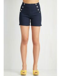 Angry Rabbit   Sailorette The Seas Shorts In Dark Wash   Lyst