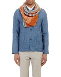 Barneys New York Medallion Slub Scarf - Lyst
