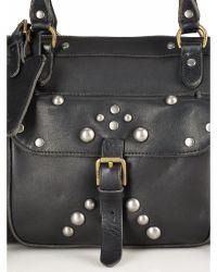 Polo Ralph Lauren Leather Studded Satchel - Black