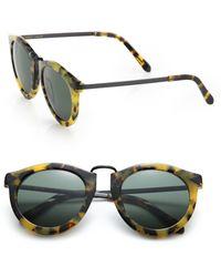 Karen Walker Harvest 51Mm Round Sunglasses green - Lyst