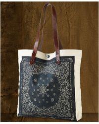Denim & Supply Ralph Lauren - Leatherstrap Bandanaprint Canvas Tote - Lyst