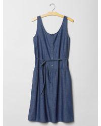 Gap Indigo Tank Shirtdress blue - Lyst