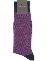 Duchamp Birdseye Cotton Socks - For Men - Lyst