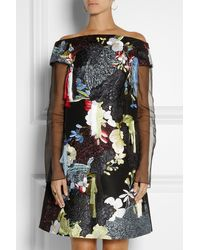Erdem Juliana Embellished Silkblend Mini Dress - Lyst