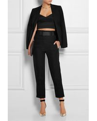 Donna Karan New York Belted Ramie-Blend Tapered Pants - Lyst
